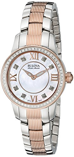 Bulova Accu Swiss Women's 65R152 Diamond Two-Tone Watch