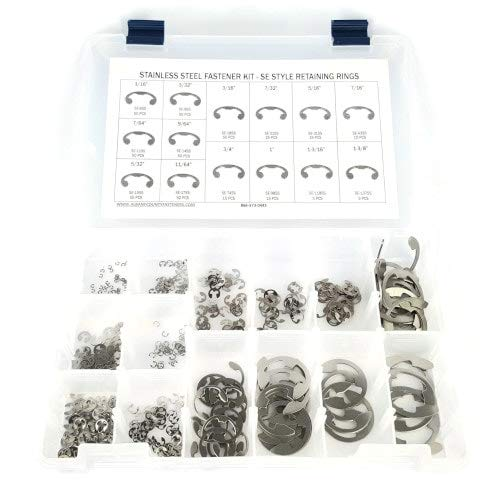 Stainless Steel SE Style External Snap Ring Kit - 456 Piece Kit