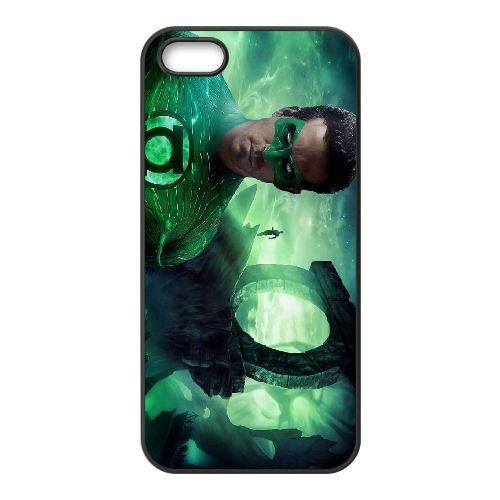 Green Lantern 004 coque iPhone 5 5S cellulaire cas coque de téléphone cas téléphone cellulaire noir couvercle EOKXLLNCD24133