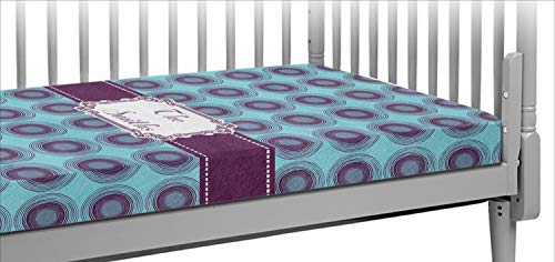- Concentric Circles Crib Fitted Sheet (Personalized)
