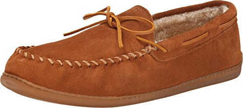 Minnetonka Men's 3902 Pile Hardsole Pile Lined Slipper,Brown,10 M - For Minnetonkas Men