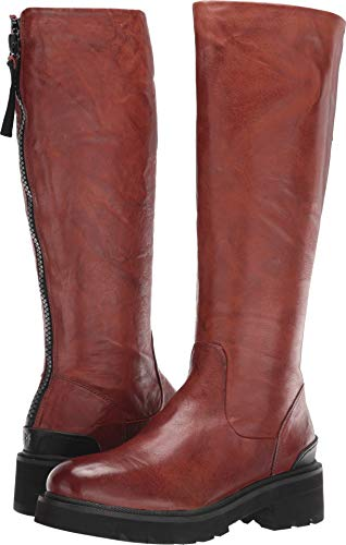 FRYE Women's Allison Tall Back Zip Knee High Boot Cognac 9 M US