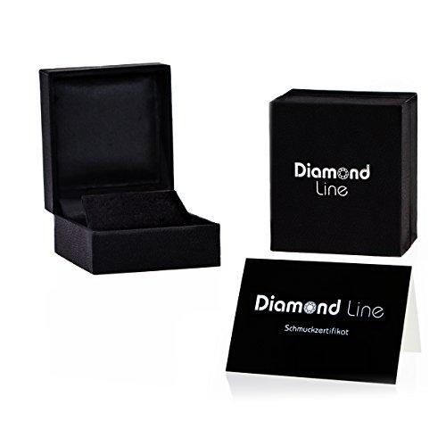 Diamond Line-Boucles d'Oreilles Or Jaune 375Diamant 0.30ct blanc taille brillant-122171