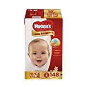 HUGGIES Little Snugglers Baby Diapers, Size 2, 148 Count