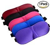 3D Sleeping Eye Mask Relax Sleep Masks, Super Light Soft Travel Sleep Rest Eye Shade Blinder for Men & Women 5 Pack
