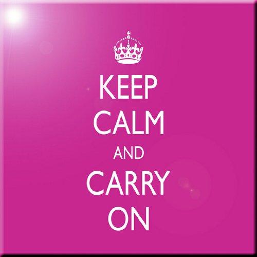 12 x 12 Rikki Knight Keep Calm and Carry On-Pink Rose Design Ceramic Art Tile