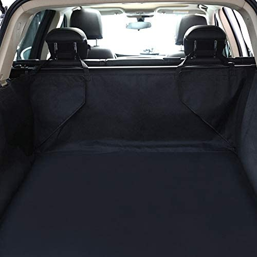 ペットシートカバー SUVトランクと互換性が車のトランクアンチ汚れたマット防水アンチスクラッチペットバックシートカバー (Color : Black, Size : 129x100x43cm)