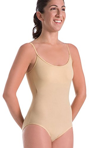 Body Wrappers Camisole Leotard, Nude, 4-6