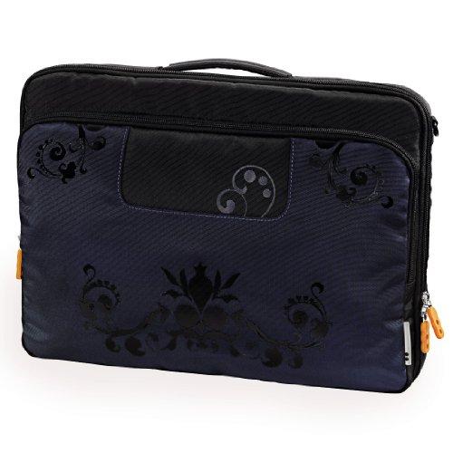 aha: Scroll Notebooktasche bis 31 cm (12,1 Zoll) schwarz/blau