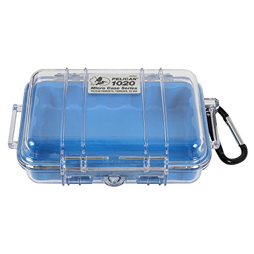 Pelican 1060-025-100 Micro Case with Clear Lid and Carabineer Black