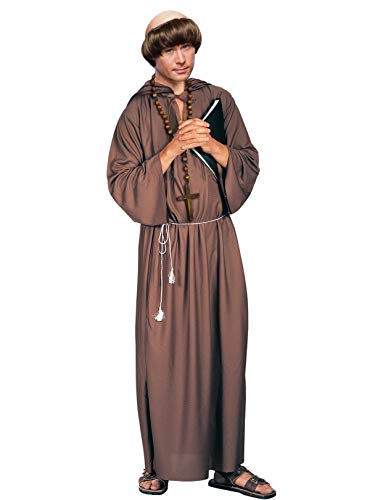 Forum Novelties Men's Adult Monk Robe Costume, Brown,