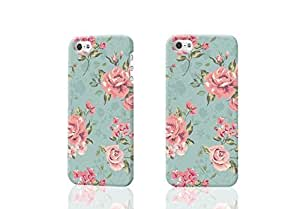 Floral Rose Flower Vintage Shabby Chic 3D Rough iphone 5 5S Case Skin, fashion design image custom iPhone 5 5s , durable iphone 5 5S hard 3D case cover for iphone 5 5S, Case New Design By Codystore