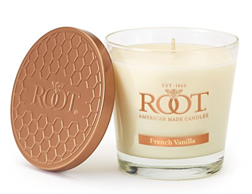 Root Candles Honeycomb Veriglass Scented Beeswax Blend Candle, Small, French Vanilla from Root Candles