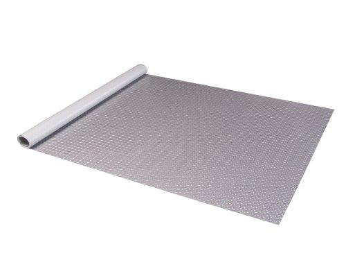 Auto Care Products 80520 Diamond Deck 5' x 20' Floor Mat, Metallic Silver