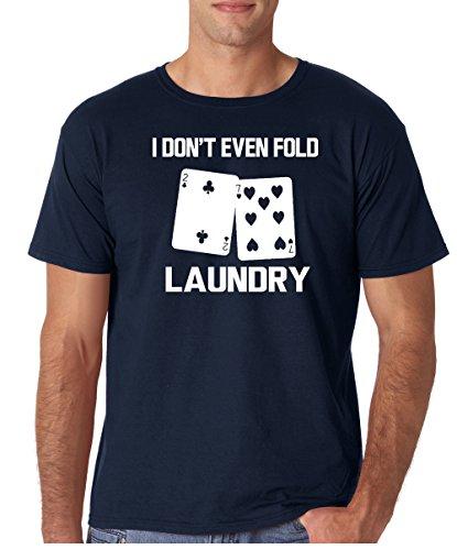 Crazy Bros Tees Even Fold Laundry - Poker Lover Premium Men's T-Shirt (X-Large, - Gift Poker