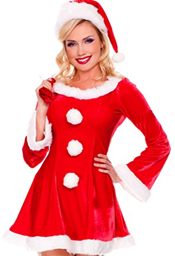 Jovi Elf Halloween Costume (Black Friday PEGGYNCO Christmas Womens Xmas Red Customes Stage Performance)