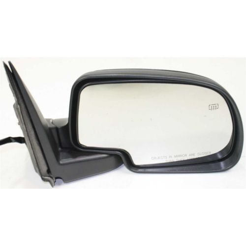Make Auto Parts Manufacturing Passenger Side Non-Towing Mirror Power Operated Manual Folding Heated Textured Black For Cadillac/Chevrolet/GMC Trucks 2003-2007 - GM1321293