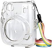 Prettyia Capa protetora de cristal, compatível com câmera instantânea Instax Mini 11, capa rígida de policarbo