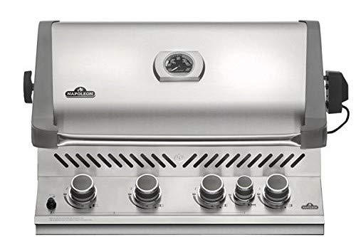 Napoleon Grills Built-in Prestige 500 with Infrared Rear Burner Natural Gas Grill (In Grill Natural Gas Drop)