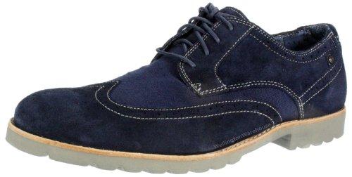 Rockport K73347 Navy suede lace Herren Leder Schuhe up, brogue-smart, Blau - Dunkelblau - Größe: 40 2/3 EU
