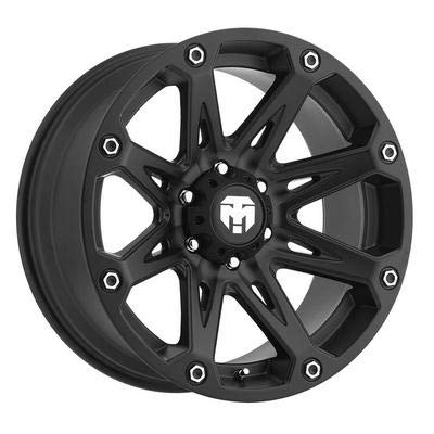Trailmaster TM210-7973SB Alloy Wheel; Size 17X9; Bolt Pattern: 5X5; Max Load 2200 lbs.; Back Space 4.75 in.; Offset Negative 6mm; Finish: Satin Black; ()