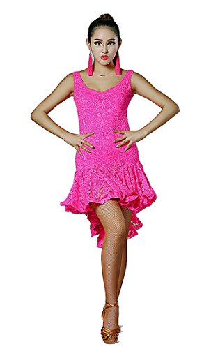 SFD007 Latin Rhythm Salsa Swing Dance Costume Dress (US8(XL), (Dancesport Latin Costumes)