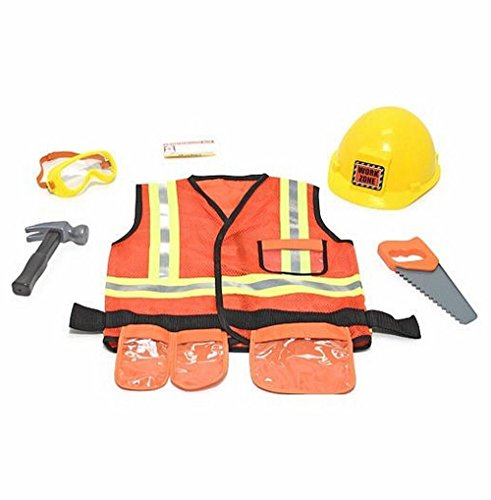[Construction Worker Role Play from Melissa & Doug] (Girl Construction Worker Costumes)