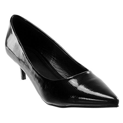 Aiguille Escarpin Angkorly 5 Chaussure on Croco Femme Slip Noir Verni Stiletto Cm Talon Haut Decolleté Mode 5 EH7wHfq