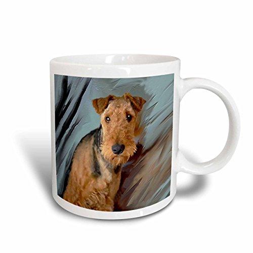 3dRose Airedale Terrier Portrait Mug, 11-Ounce