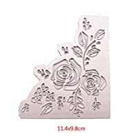 Hukai Rose Flower Metal Cutting Dies Stencil DIY Scrapbooking Album Stamp Paper Card Embossing Crafts Decor,Good Gift for Your Kids to Cultivate Their Hands-on Ability