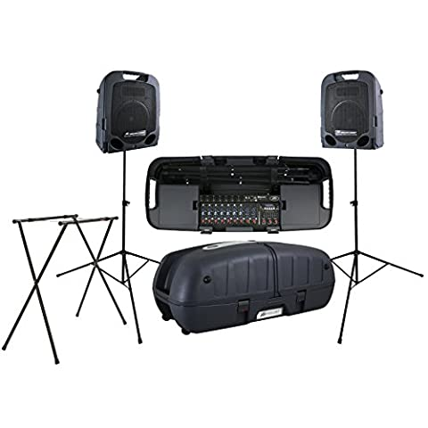Peavey Escort 6000 9 Channel PA System with Mixers, 2 Speakers, and 3 Stands - Pa System Package