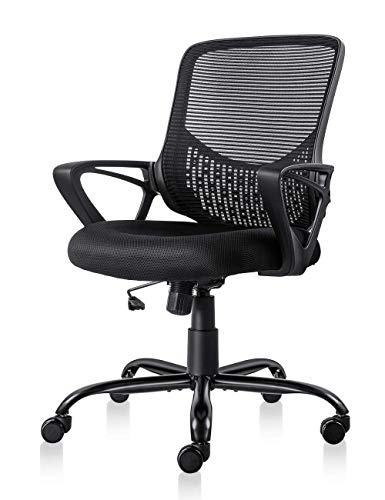 Ergonomic Office Chair Lumbar Support Mesh Chair Computer Desk Task Chair with Armrests (Office Desk Chair Ergonomic)