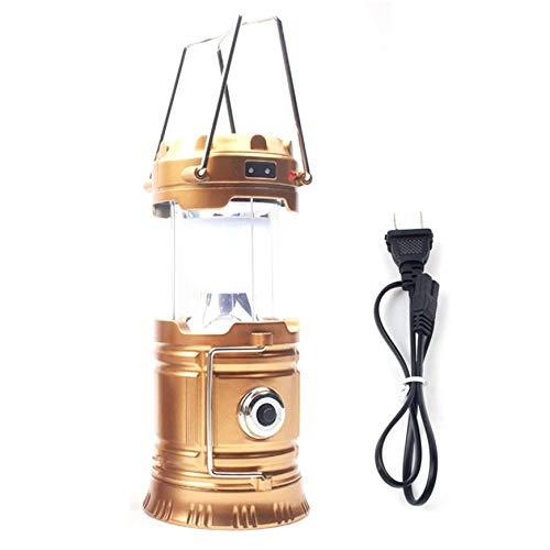 Pudincoco Portable et Mini Extérieure Rechargeable USB Lanterne de Camping à LED pour Camping ou Lanterne Solaire Lampe de poche Lanterne de secours (or)