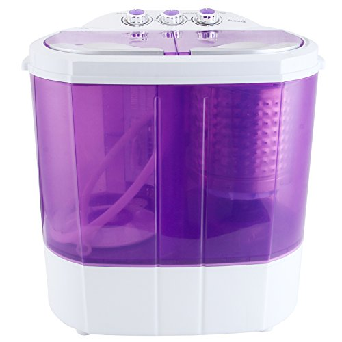 YHG Purple Electric Mini Portable Compact 8-9lbs Capacity Washing Machine Washer Spin Dryer