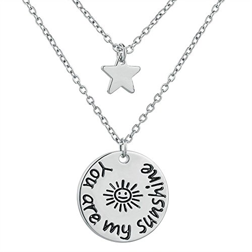 LuckyJewelry Christmas Gifts you are my sunshine Star Pendant Necklace For - Pd What Is My