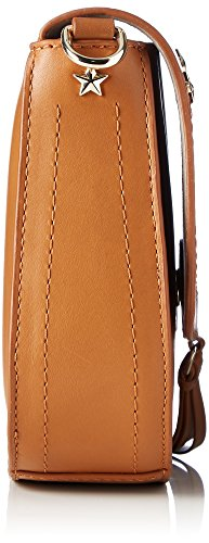Tommy Hilfiger City Leather Saddlebag Corp - Borse a tracolla Donna, Braun (Cognac), 6x17x20 cm (B x H T)