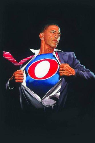 Alex Ross: Time For A Change Barack Obama Print Obama Man / Superobamaman Barack