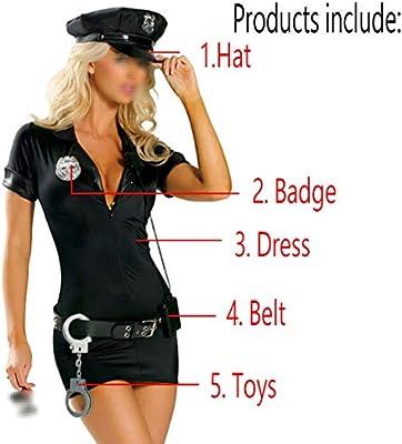 Cosplay La Policía De La Mascarada De Halloween del Juego del Uniforme Uniforme Uniforme Uniforme De La Policía Instructor Adecuado para Las Mujeres Adultas Dress-L: Amazon.es: Hogar