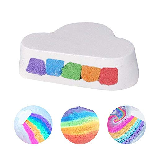 (Rainbow Cloud Bath Bombs Gift Set - Dry Skin Moisturizing Spa Essential Oil Bubble Bath Salts Balls, Best Ultra Lush Natural Bubble Fizzies With Dead Sea Salt Cocoa, Handmade Birthday Mothers Day Gift)