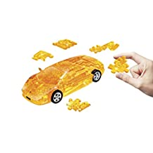 Lamborghini Murcielago Plastic 3D Assembly Puzzle Car - Yellow Crystal Color 64 pieces puzzle in scale 1:32 by Puzzle Fun 3D