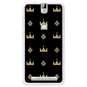 BeCool® - Funda Gel Flexible Elephone P8000 BeCool Coronas Doradas Carcasa Case Silicona TPU Suave