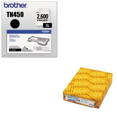 KITBRTTN450NEE01345 - Value Kit - Neenah Paper Classic Crest Stationery Writing Paper (NEE01345) and Brother TN450 TN-450 High-Yield Toner (BRTTN450) by Neenah