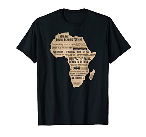 Africa T Shirt Bless Africa Rains On Toto (T-shirt Africa Map)