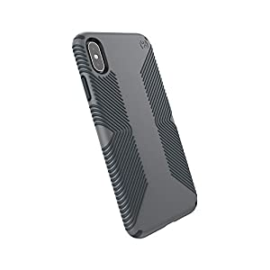 Speck Products Compatible Phone Case for Apple iPhone Xs Max, Presidio Grip Case, Graphite Grey/Charcoal Grey