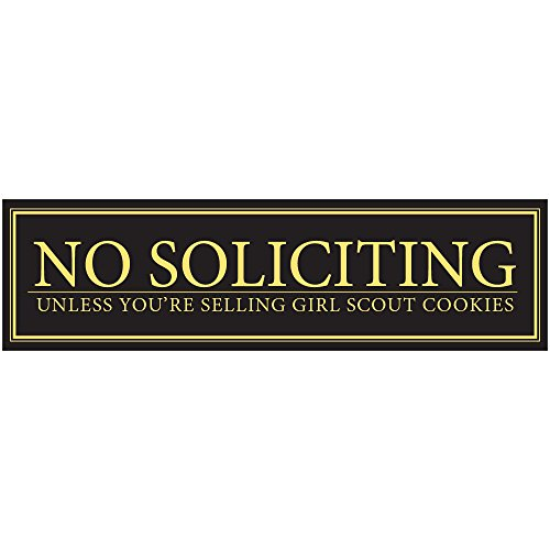 No Soliciting Unless You're Selling Girl Scout Cookies Door Magnet - Funny Magnet