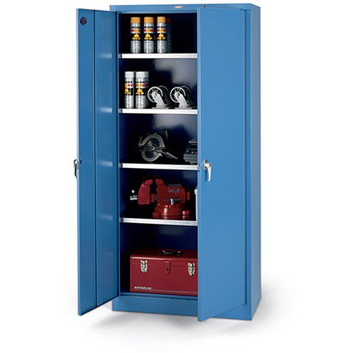 Parent Metal Xhd Series Galvanized-Shelf Heavy-Industrial Grade Cabinet - 36X18x78'' - Blue by Xhd Series
