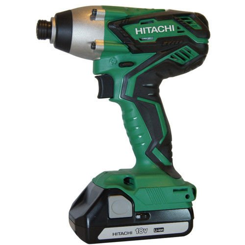Hitachi WH18DGL 18V 1.3 Ah Cordless Lithium-Ion 1/4 in. Hex Impact Driver Kit (Certified Refurbished) by Hitachi