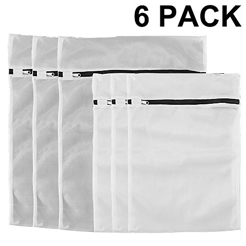 6 Pack Mesh Laundry Bags, 3 Extra Large(20