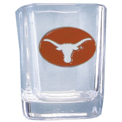 NCAA Texas Longhorns Shot - Shot Square Texas Glass Longhorns