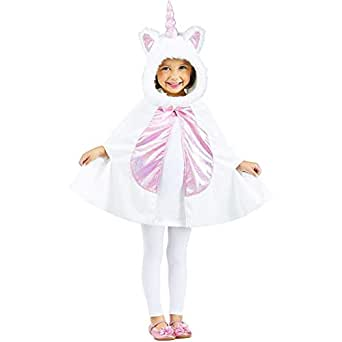 Fun World Kid's Xlrg/unicorn Cape Tdlr Cstm Childrens Costume, multi/color, Extra Large